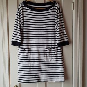 Kate Spade navy white striped dress XL